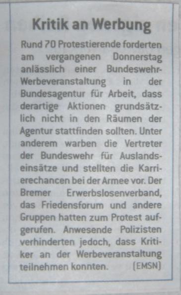 Bundeswehr Werbeveranstaltung