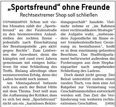 bremer anzeiger 12.04.10 zum sportsfreund